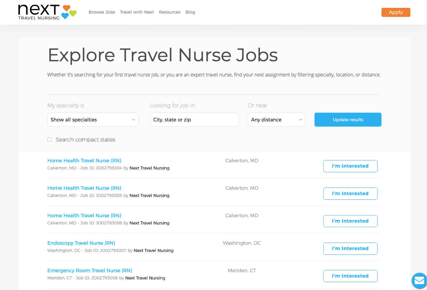 browse jobs
