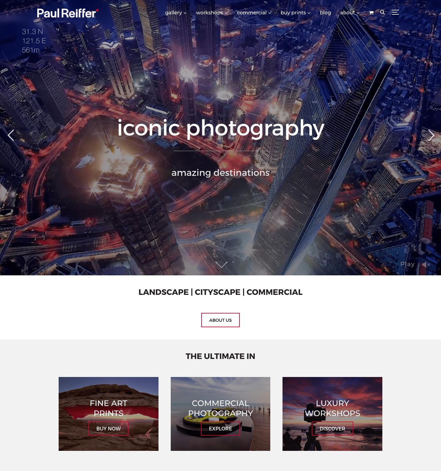 New design for the website
